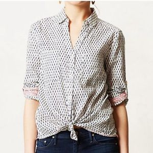 HOLDING HORSES Button Down Floral Print Shirt